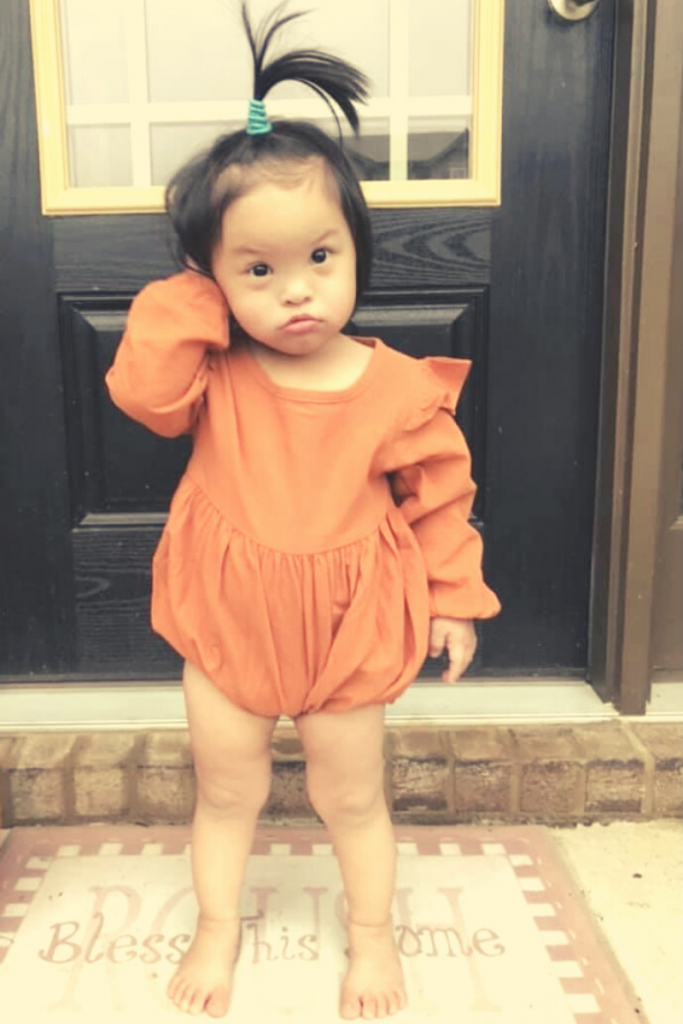 Down syndrome adoption - Piper age 3