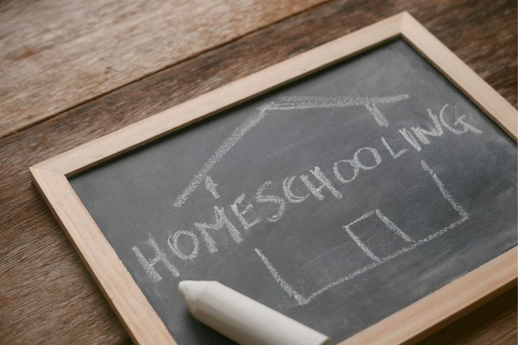 """What Every Homeschooling Mom Needs To Know - Chalkboard with the word """"Homeschooling"""""""