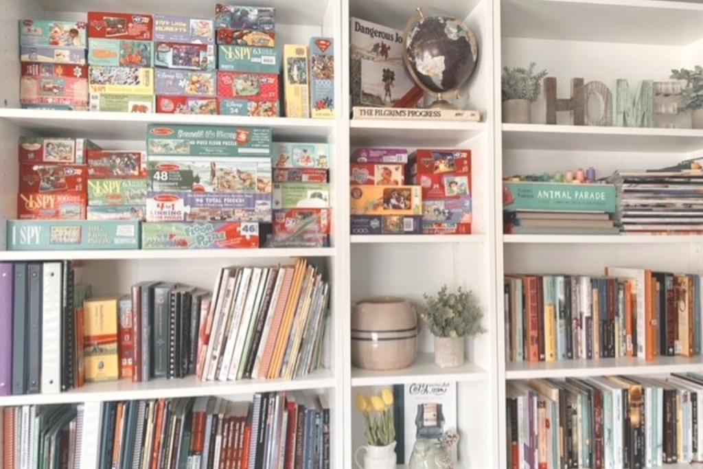 Puzzle/Book Shelf