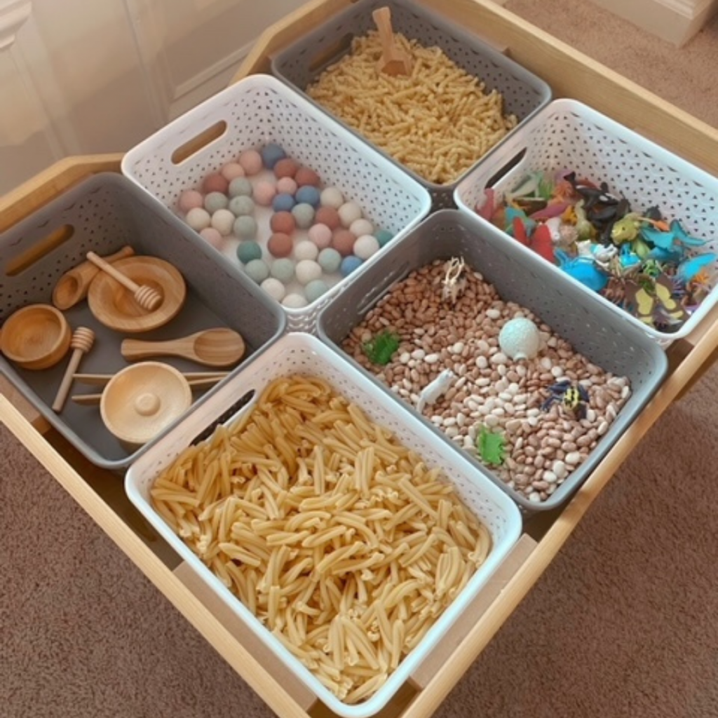 Sensory Table from Above
